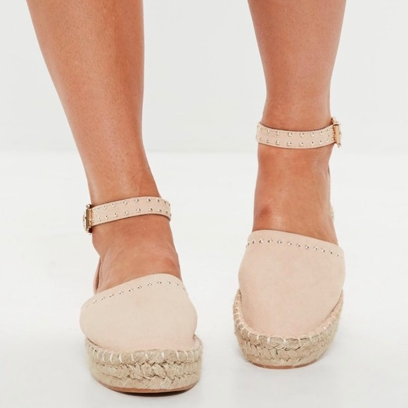 66264d8252d Nude studded sole flatform espadrilles. NWT. Missguided